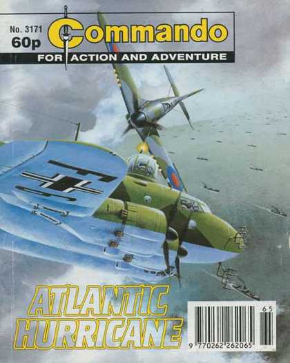 Commando 3171 - Atlantic Hurricane - Action And Adventure - Bomber - Airplane - Sky