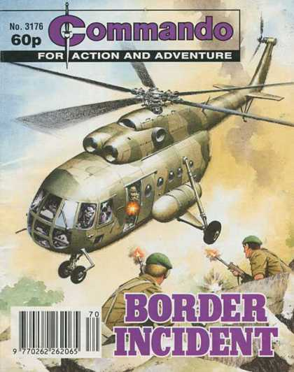 Commando 3176 - Helicopter - Soldiers - Guns - Firing - Border Incident