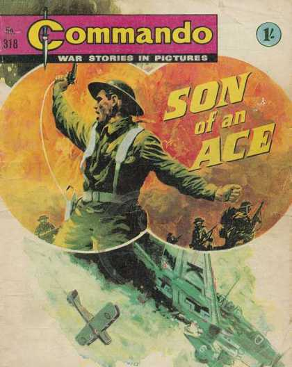 Commando 318 - Son Of An Ace - War Stories In Pictures - No 318 - Green Hat - Green Uniform
