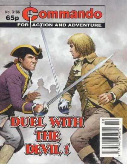 Commando 3186 - Pirate - Sword - Fog - Purple Shirt - Ponytail