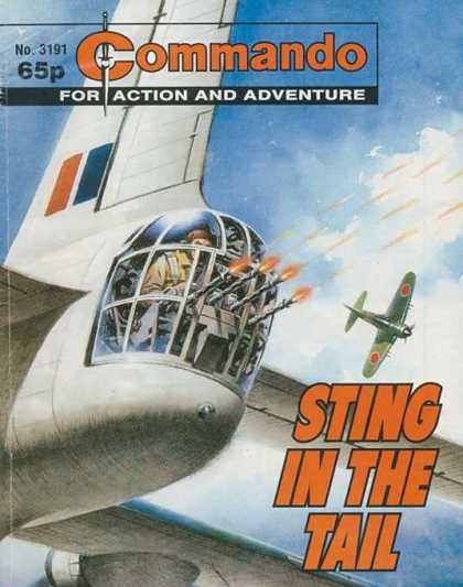 Commando 3191 - For Action And Adventure - Sting In The Tail - Shooting - Planes - No 3191