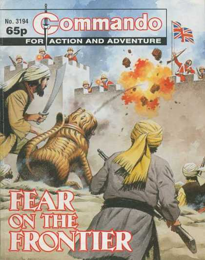 Commando 3194 - Action Comic - Flag - Fear On The Frontier - War Field - Sword