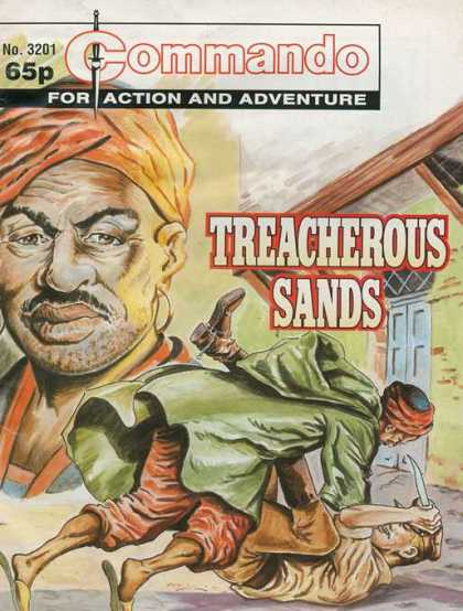 Commando 3201 - Action - Adventure - Trecherous Sands - Knife - Fight