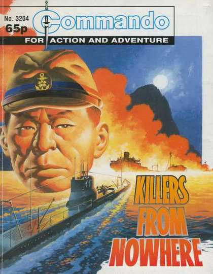 Commando 3204 - Action And Adventure - Killers From Nowhere - Fire - Ships - Soldier
