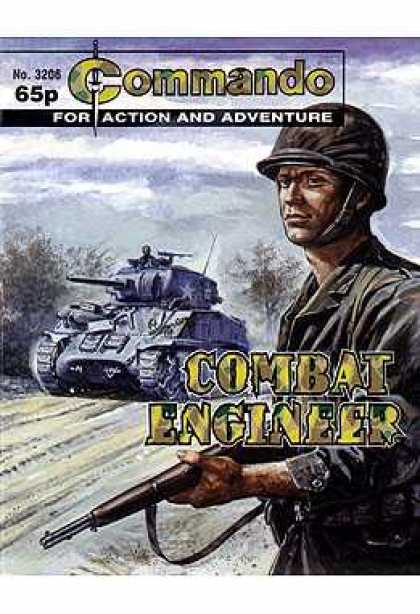 Commando 3206 - Comic - Cover Art - Army - Tank - Soldier