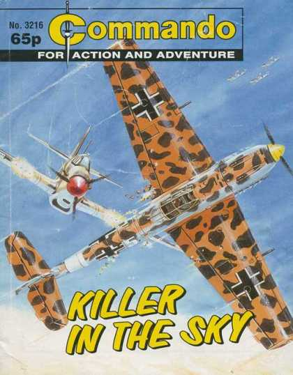 Commando 3216 - Killer - Plane - Ships - 65p - No 3216