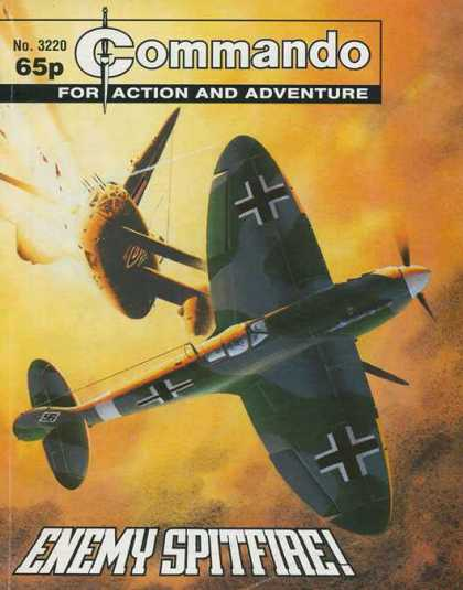 Commando 3220 - For Action And Adventure - No 3220 - Enemy Spitfiae - Fighter Planes - 65p