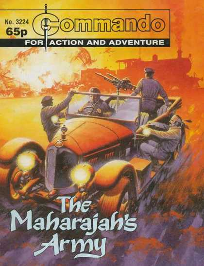 Commando 3224 - Automobl - Machine Gun - Train - Explosion - Maharajahs Army