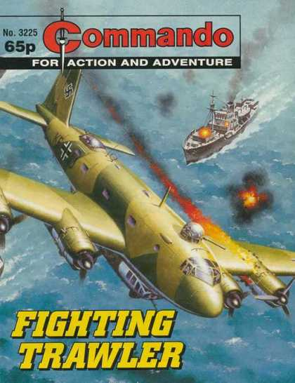 Commando 3225 - For Action And Adventure - Plane - Ship - Sea - Fighting Trawler