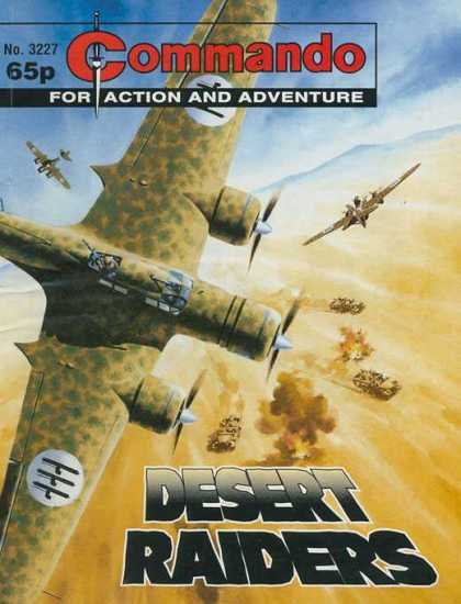 Commando 3227 - Fighting - Airplanes - Desert - Raiders - Tank