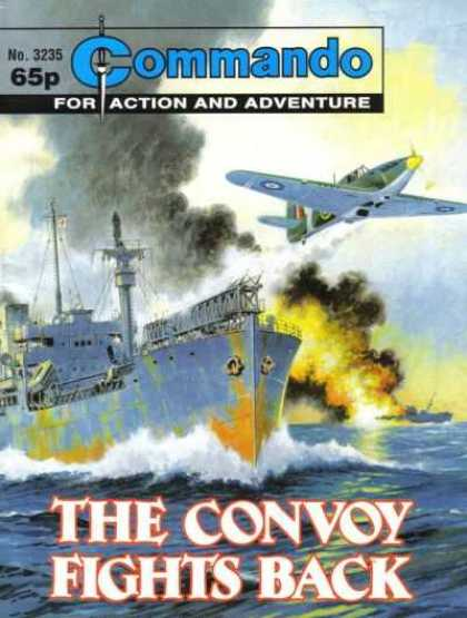 Commando 3235 - Commando - Ship - Planes - Fighting - Smoke