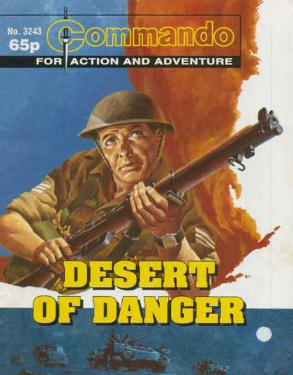 Commando 3243 - Desert Of Danger - Gun - Helmet - Smoke - For Action And Adventure