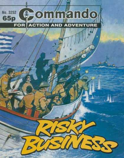 Commando 3252 - Commando - For Action And Adventure - Risky Business - Soldiers - At Sea