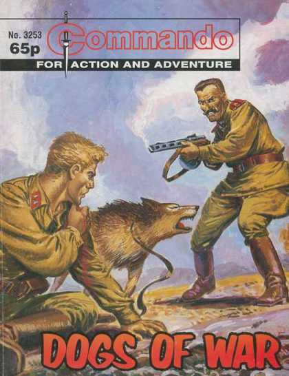 Commando 3253 - For Action And Adventure - Dogs Of War - Gun - Uniforms - Snarling Dog