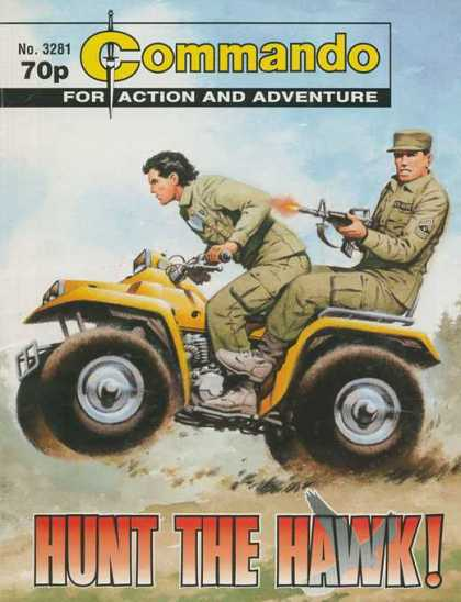 Commando 3281 - Soldiers - Atv - Gun - Men - Wheels