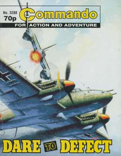 Commando 3288 - Airplane - Commando - Clouds - Defect - Adventure