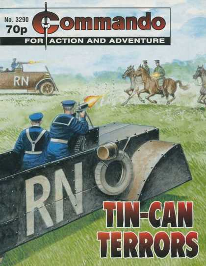 Commando 3290 - Horses - Tin Can Terrors - Soldiers - Guns - Gunfire
