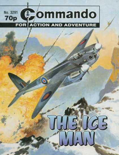 Commando 3291 - Dogfight - Explosion - The Ice Man - War Comic - Airplane