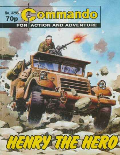 Commando 3295 - For Action And Adventure - Car - Machine Gun - Soldier - Henry The Hero