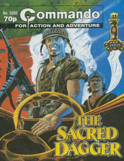 Commando 3303 - Commando - For Action And Adventure - The Sacred Dagger - Machine Gun - Snake