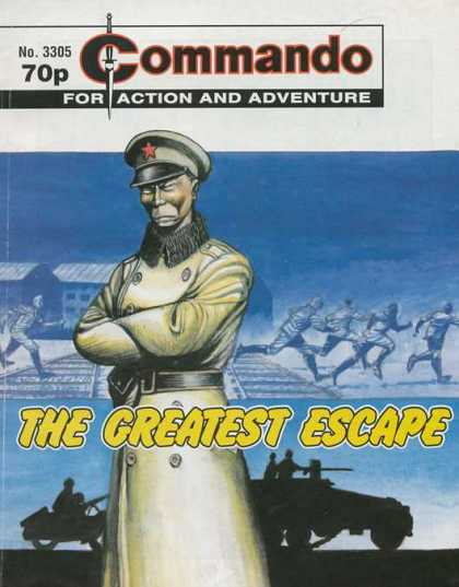 Commando 3305 - For Action And Adventure - No 3305 - The Greatest Escape - Russian Miliarty - Railroad Tracks