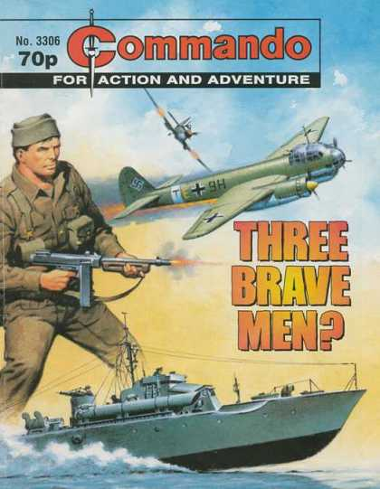Commando 3306 - Commando - Air - Sea - Action And Adventure - Three Brave Men