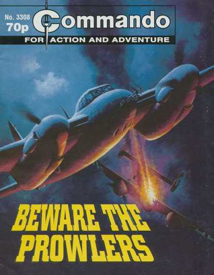 Commando 3308 - No 3308 - For Action And Adventure - Beware The Prowlers - Aeroplane - Dogfight