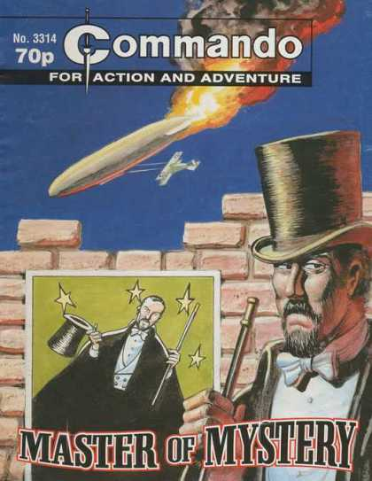 Commando 3314 - For Action And Adventure - Master Of Mystery - Air Bomb Dropping - Airplane - Magician In Top Hat