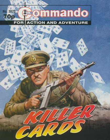 Commando 3320 - Killer Cards - Action - Adventure - Commander - Gun