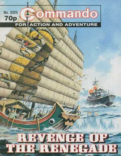 Commando 3325 - Warship - Shooting - Wooden Ship - Sail - Dragon