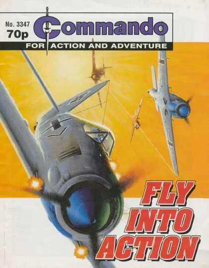 Commando 3347 - Airplanes - Fly Into Action - Aircraft - Propellors - For Action And Adventure