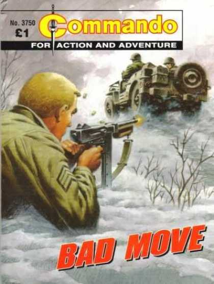 Commando 3750 - Action And Adventure - Machine Gun - Jeep - Soldiers - Bad Move