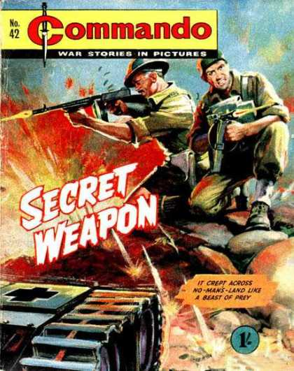 Commando 42 - War Stories In Pictures - Secret Weapon - Soldiers - Guns - Flame