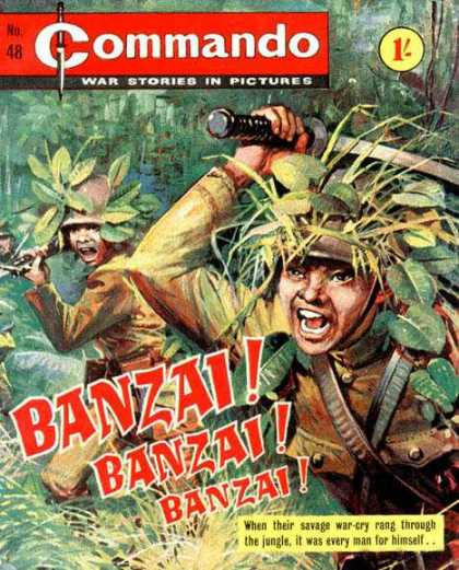 Commando 48 - War - Jungle - Camouflage - Sword - Banzai