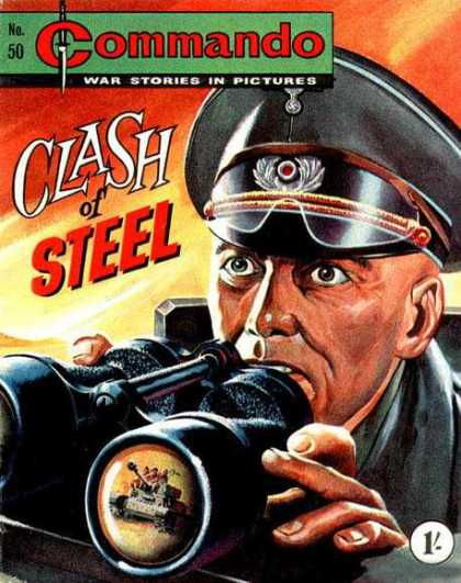 Commando 50 - No 50 - Clash Of Steel - Binoculars - Tank - Hat