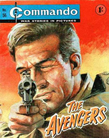 Commando 56 - War Stories In Pictures - Gun - Man - The Avengers - Soldier