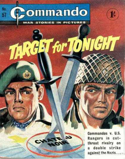Commando 57 - War Stories In Pictures - No 57 - Target For Tonight - Commandos Vs Us Rangers - Nazis