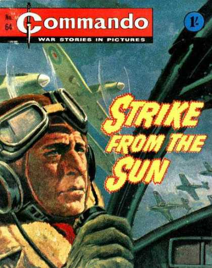Commando 64 - Stirke From The Sun - War Stories In Pictures - Jet Planes - Pilot - No64