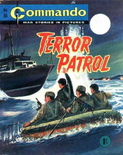 Commando 66 - War Stories - Ship - Terror Patrol - Full Moon - Raft