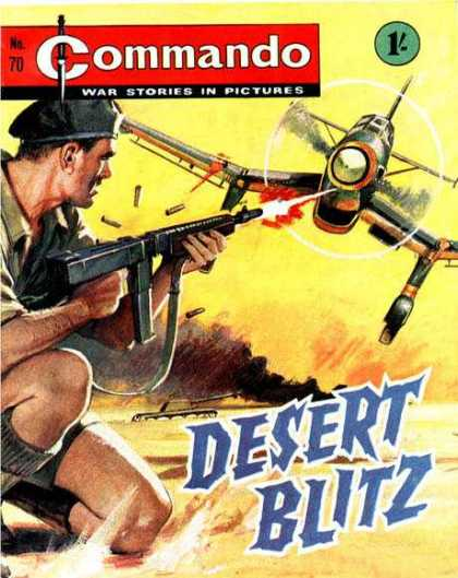 Commando 70 - Airplane - Soldier - Machine - Shooting - Desert Blitz