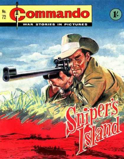 Commando 72 - War - Sniper - Cowboy Hat - Gun - Soldier