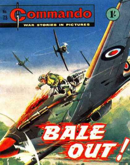 Commando 73 - Airplane - Aircraft - Bale Out - War Stories In Pictures - Men