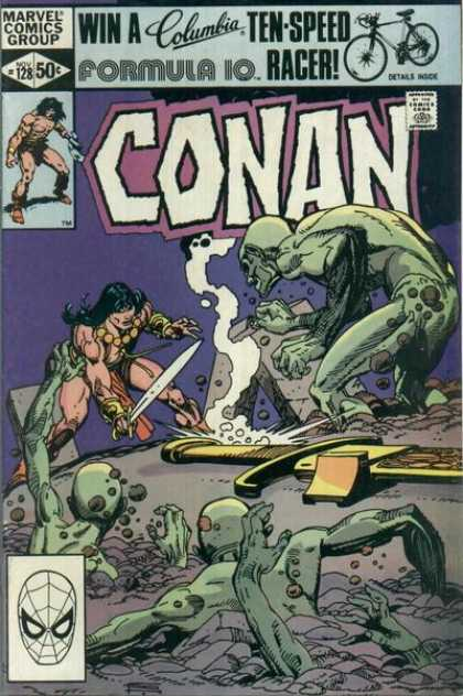 Conan the Barbarian 128 - Sword - Emerge - Ground - Rubble - Battle