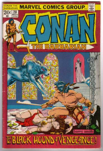 Conan the Barbarian 20 - Black Hound Of Vengance - Conan - Chains - Church - Barry Smith - Barry Windsor-Smith