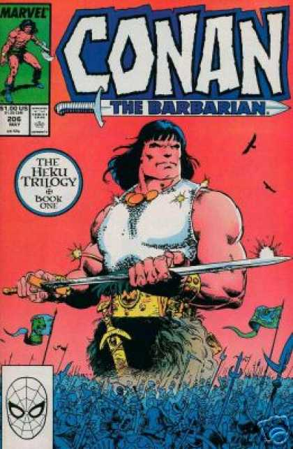 Conan the Barbarian 206 - The Heku Trilogy - Sword - Crowd - 20 C May - Birds