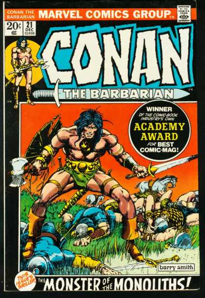 Conan the Barbarian 21 - Approved By The Comics Code Authority - Marvel Comics Group - 21 Dec - Sword - Barry Smith - Barry Windsor-Smith