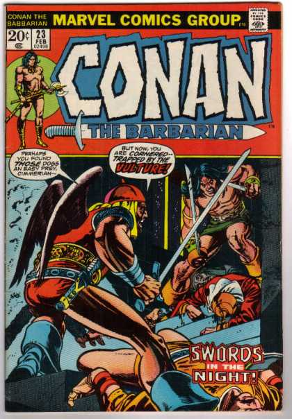 Conan the Barbarian 23 - Swords In The Night - Dogs - Wings - Axe - Marvel Comics Group
