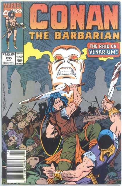 Conan the Barbarian 235 - White Head - Sword Swinger - Shield And Sword - Conquering Slayer - Raider Of Venarium - Ron Lim