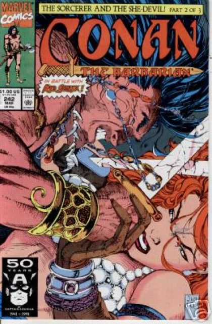 Conan the Barbarian 242 - Marvel - Marvel Comics - Conan - She-devil - 242 - Jim Lee
