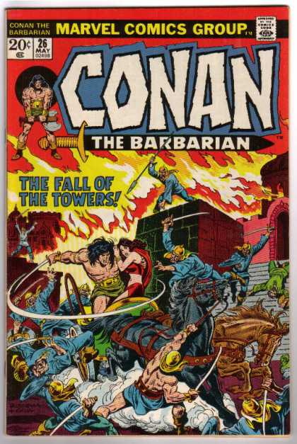 Conan the Barbarian 26 - Fire - Fight - Chariot - Warrior - The Fall Of The Towers - John Buscema